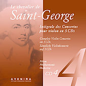 Le Chevalier de Saint-Georges: Violin Concertos Vol 4