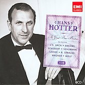 Icon - Hans Hotter sings Bach, Brahms, Schubert, etc