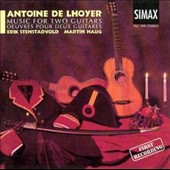 Antoine De Lhoyer: Music for Two Guitars