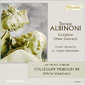 Albinoni: Complete Oboe Concerti / Robson, Standage