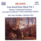 Brahms: Four-Hand Piano Music Vol 1 / Matthies, Köhn