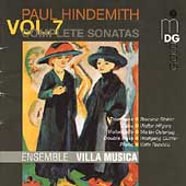 Hindemith: Complete Sonatas Vol 7 / Ensemble Villa Musica