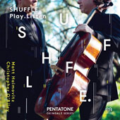 Shuffle. Play. Listen: Works by Radiohead, A Perfect Circle, Bernard Herrmann, Leos Janácek, Bohuslav Martinu, Piazzolla, Stravinsky, and others / Matt Haimovitz, cello; Christopher OÆRiley, piano