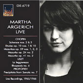 Martha Agerich Live: Piano Works by Chopin, Liszt & Prokofiev / Martha Agerich, piano
