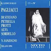Leoncavallo: Pagliacci / Sanzogno, Di Stefano, Alva, et al