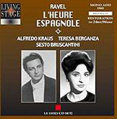 Ravel: L'heure espagnole;  Rossini / Fournet, et al