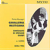 Mascagni: Cavalleria Rusticana / Votto, Di Stefano, et al