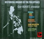 Historical Organs of the Philippines - The complete set of 4 CDs  / Guy Bovet, organ
