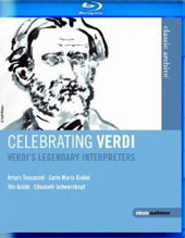 Celebrating Verdi - Verdi's Legendary Interpreters / Toscanini, Giulini, Mackerras, Gobbi, Schwarzkopf [Blu-Ray]