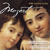 Mozart: Rare Choral Works / Patterson, Gloriae dei Cantores