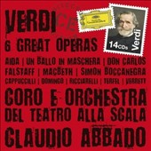 Verdi: Six Great Operas - Aida; Un Ballo; Don Carlos; Falstaff; Macbeth; Simon Boccanegra / Piero Cappuccilli, Placido Domingo, Katia Ricciarelli, Bryn Terfel, Shirley Verrett