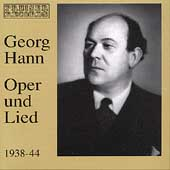 Georg Hann - Oper und Lied 1938-44 - Mozart, Haydn, et al