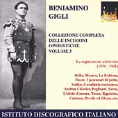 Beniamino Gigli - Complete Opera Recordings Vol 3
