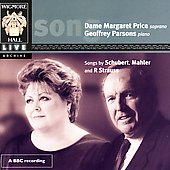 Schubert, Mahler, Strauss: Songs / Price, Parsons