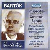 Bartok: Sonatas & Rhapsodies for Violin & Piano / Szekely