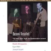 Busoni Recalled - The 1941 New York Commemorative Concert