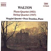 Walton: Piano Quartet, String Quartet / Donohoe, Maggini