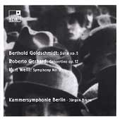 Goldschmidt: Suite for Orchestra;  Gerhard, Weill / Bruns