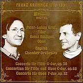 Krommer: Concertos for Flute and Oboe / Graf, Holliger, ECO
