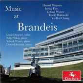 Music at Brandeis - works by Harold Shapero, Irving Fine, Yehudi Wyner, David Rakowski, Yu-Hui Chang / Daniel Stepner, violin; Yehudi Wyner, piano