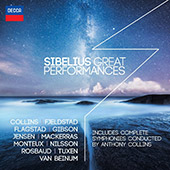 Sibelius: Great Performances - complete symphonies conducted by Anthony Collins / Fjeldstad, Flagstad, Gibson, Jensen, Mackerras, Monteux, Nilsson, Van Beinum et al.