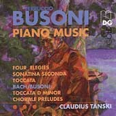 Busoni: Piano Music - Four Elegies, etc / Claudius Tanski