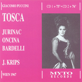 Puccini: Tosca / Krips, Jurinac, Kunz, et al
