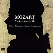 Mozart: Violin Sonatas / Andrew Manze, Richard Egarr