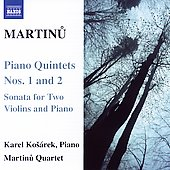 Martinu: Piano Quintets no 1 & 2, etc / Karel Kosárek, et al