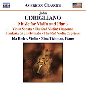 American Classics - Corigliano: Music for Violin and Piano / Bieler, Tichman