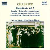 Chabrier: Piano Works Vol 3 / Georges Rabol, Sylvie Dugas
