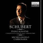 Schubert: Piano Sonatas / Michelangelo Carbonara