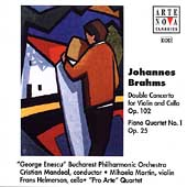 Brahms: Double Concerto, Piano Quartet no 1 / Martin, et al