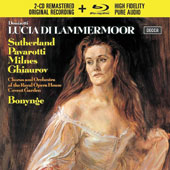 Donizetti: Lucia di Lammermoor / Joan Sutherland; Luciano Pavarotti; Sherrill Milnes; Richard Bonynge, Orchestra of the Royal Opera House Covent Garden [2 CDs + Blu-Ray Audio]