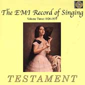 The EMI Record of Singing Vol 3 - 1926-1939