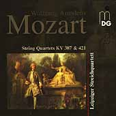 Mozart: String Quartets KV 387 & 421 / Leipzig Quartet