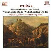 Dvorák: Music for Violin and Piano Vol 1 / Zhou, Battersby