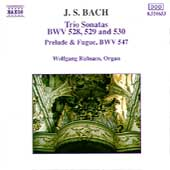 Bach: Trio Sonatas BWV 528-530, etc / Wolfgang R&uuml;bsam