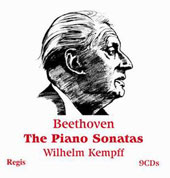 Beethoven: Piano Sonatas, complete / Wilhelm Kempff, piano [9 CDs]