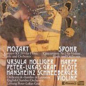 Mozart: Concerto for Flute & Harp; Spohr: Concertante no 1 for violin & harp / Peter-Lukas Graf, flute; Ursula Holliger, harp; Hansheinz Schneeberger, violin