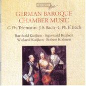Plus - German Baroque Chamber Music - J.S. Bach, Telemann, C.P.E. Bach / Kuijkens, Kohnen