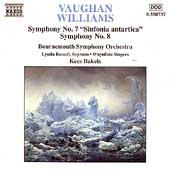 Vaughan Williams: Symphonies 7 & 8 / Bakels, Bournemouth SO