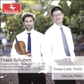 Schubert: Complete Works for Violin & Piano, Vol 2. - Sonatas D. 384, D. 385 & D. 408 / Tomas Cotik, violin; Tao Lin, piano