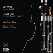 Mozart: Sonata for bassoon & cello, K.292; Francois Devienne: Bassoon Quartets Op. 73/1-3 / Matthias Racz, bassoon; Merel Quartet, members