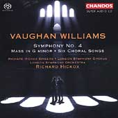 Vaughan Williams: Symphony no 4, Mass, etc / Hickox, LSO