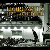 Horowitz - Live and Unedited - Historic 1965 Return Concert