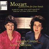 Mozart: Piano works for four hands / Cooper, Queffélec