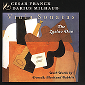Franck, Milhaud, Dvorak, etc - A Viola Treasury / Zaslav Duo