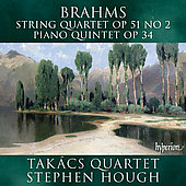 Brahms: String Quartet, etc / Hough, Tak&aacute;cs Quartet