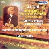 Bach: Concertos for 1 & 2 Pianos / Kocsis, Schiff, Simon